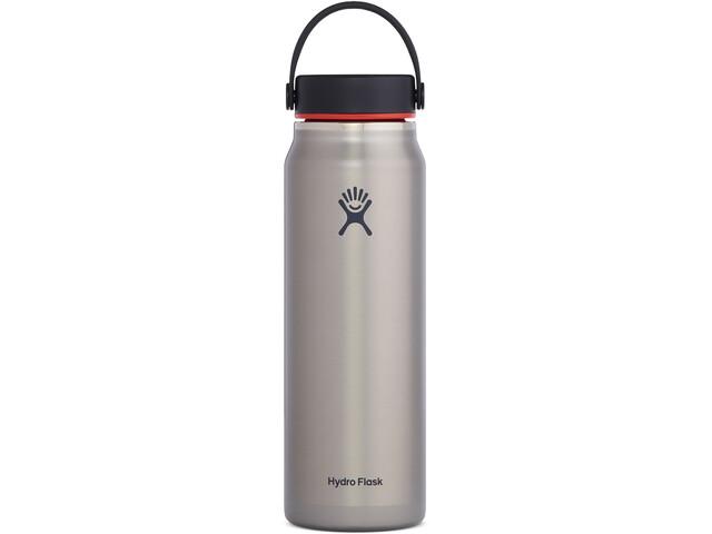 Hydro Flask Wide Mouth Trail Lightweight Bidón con Tapa Flex 946ml, gris